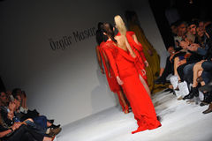 Models walk the runway finale at Ozgur Masur show Royalty Free Stock Images