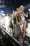 Models walk the runway finale  during the Philipp Plein show Stock Images