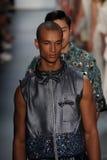 Models walk the runway finale at the Son Jung Wan Runway Stock Photo