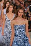 Models walk the runway finale wearing Ralph Lauren Spring 2016 during New York Fashion Week Royalty Free Stock Photos