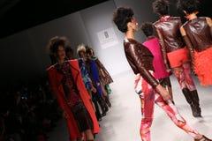 Models walk the runway at the FTL Moda fashion show during Mercedes-Benz Fashion Week Fall 2015 Royalty Free Stock Photo