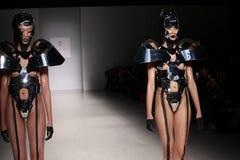 Models walk the runway at the FTL Moda fashion show during Mercedes-Benz Fashion Week Fall 2015 Stock Photo