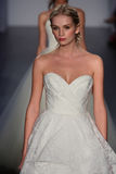 Models walk runway at Jim Hjelm fashion show during Fall 2015 Bridal Collection Royalty Free Stock Photos