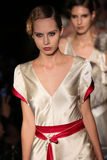 Models walk runway at Johanna Johnson runway Show during Fall 2015 Bridal Collection Royalty Free Stock Photo