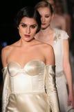 Models walk runway at Johanna Johnson runway Show during Fall 2015 Bridal Collection Royalty Free Stock Images