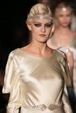 Models walk runway at Johanna Johnson runway Show during Fall 2015 Bridal Collection Royalty Free Stock Image