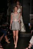 Models walk runway at Johanna Johnson runway Show during Fall 2015 Bridal Collection Royalty Free Stock Photos