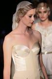 Models walk runway at Johanna Johnson runway Show during Fall 2015 Bridal Collection Stock Photo