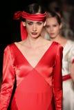 Models walk runway at Johanna Johnson runway Show during Fall 2015 Bridal Collection Stock Image