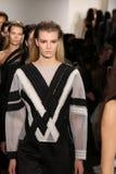 Models walk the runway at Jonathan Simkhai fashion show during MADE Fashion Week Fall 2015 Stock Photography