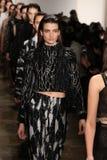 Models walk the runway at Jonathan Simkhai fashion show during MADE Fashion Week Fall 2015 Stock Photo