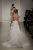 Models walk runway at Kelly Faetanini runway Show during Fall 2015 Bridal Collection Royalty Free Stock Images