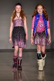Models walk runway at Little Miss Matched Fall/Winter 2016 Runway Show during petiteParade Royalty Free Stock Photo