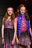 Models walk runway at Little Miss Matched Fall/Winter 2016 Runway Show during petiteParade Royalty Free Stock Photography