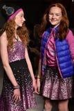 Models walk runway at Little Miss Matched Fall/Winter 2016 Runway Show during petiteParade Royalty Free Stock Photos