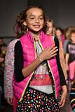 Models walk runway at Little Miss Matched Fall/Winter 2016 Runway Show during petiteParade Royalty Free Stock Images