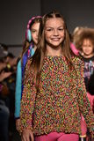 Models walk runway at Little Miss Matched Fall/Winter 2016 Runway Show during petiteParade Stock Photo
