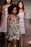 Models walk runway at Little Miss Matched Fall/Winter 2016 Runway Show during petiteParade Royalty Free Stock Image