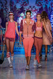 Models walk the runway at the Maaji Swimwear fashion show during MBFW Swim 2015 Royalty Free Stock Photos