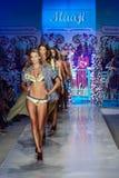Models walk the runway at the Maaji Swimwear fashion show during MBFW Swim 2015 Royalty Free Stock Photo