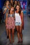 Models walk the runway at the Maaji Swimwear fashion show during MBFW Swim 2015 Royalty Free Stock Photography