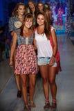 Models walk the runway at the Maaji Swimwear fashion show during MBFW Swim 2015 Stock Photography