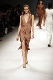 Models walk the runway Royalty Free Stock Photos