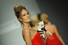 Models walk the runway at Michael Costello show Royalty Free Stock Photo