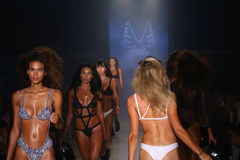 Models walk runway at the Minimale Animale fashion show during MBFW Swim 2015 Royalty Free Stock Photos