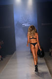 Models walk runway at the Minimale Animale fashion show during MBFW Swim 2015. MIAMI, FL - JULY 20: Models walk runway at the Minimale Animale fashion show stock images
