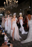 Models walk the runway at the Mira Zwillinger Spring 2015 Bridal collection show Royalty Free Stock Images