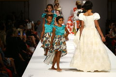 Models walk the runway at the Nancy Vuu fashion show Royalty Free Stock Image