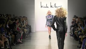 Models walk the runway for Nicole Miller during New York Fashion Week
