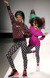 Models walk the runway at the Nike Levi's Kids fashion show during Mercedes-Benz Fashion Week Fall 2015 Royalty Free Stock Photos