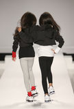 Models walk the runway at the Nike Levi's Kids fashion show during Mercedes-Benz Fashion Week Fall 2015 Stock Images