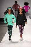 Models walk the runway at the Nike Levi's Kids fashion show during Mercedes-Benz Fashion Week Fall 2015 Royalty Free Stock Photography