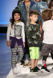 Models walk the runway at the Nike Levi's Kids fashion show during Mercedes-Benz Fashion Week Fall 2015 Royalty Free Stock Images