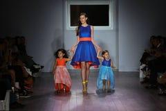 Models walk the runway at Raul Penaranda fashion show. NEW YORK, NY - SEPTEMBER 16: Models walk the runway at Raul Penaranda fashion show during New York Fashion Stock Photos