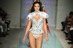 Models walk the runway at Rocky Gathercole Runway during Art Hearts Fashion Miami Swim Week Stock Photography