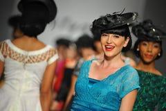 Models walk the runway at Tatyana Designs Stock Photography