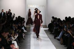 Models walk the runway at Zimmermann fashion show during Mercedes-Benz Fashion Week Fall 2015 Stock Photos