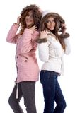 Models in warm clothes Royalty Free Stock Photography