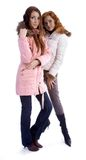Models in warm clothes Royalty Free Stock Images
