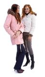 Models in warm clothes Stock Image