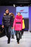 Models wear fashions from Snowimage Royalty Free Stock Photo
