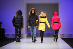 Models in wear from Snowimage goes on catwalk Stock Photos