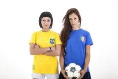 Models for world football brazil Stock Photo