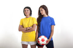Models for world football brazil Stock Photography