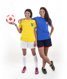 Models for world football brazil Royalty Free Stock Image