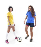 Models for world football brazil Royalty Free Stock Photography